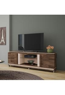 Rack Bancada Hb Móveis Level Tv Até 70 Pol 2 Portas Deck/Off White