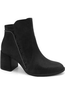 Ankle Boots Feminina Ramarim Mini Tachas Preto