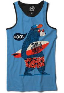 ... Camiseta Regata Long Beach Urso Prancha Sublimada Masculina - Masculino- Azul 6449e0761a2