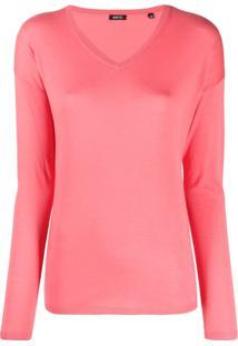 Aspesi Blusa Decote Em V De Tricô - Rosa