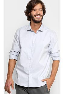 Camisa Social Calvin Klein Regular Fit Masculina - Masculino-Off White