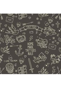 Papel De Parede Stickdecor Adesivo Black Tattoo 3Mt A 1,00Mt L