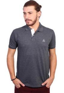 Camisa Polo Clube Náutico Slim - Masculino-Chumbo