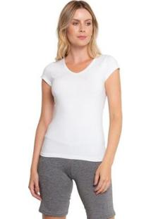 Camiseta Gola V Grupo Avenida Feminina - Feminino