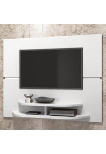 Painel Para Tv Até 55 Polegadas 10338 Branco Brilho - Dj Móveis