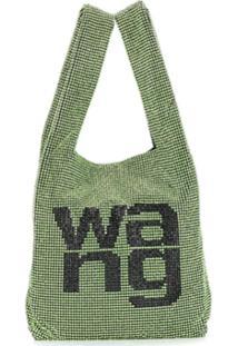 Alexander Wang Bolsa Tote Com Aplicação De Logo - Verde