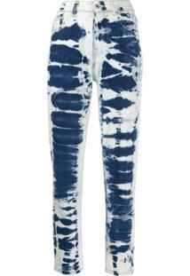 Msgm Calça Jeans Com Efeito Manchado - Azul