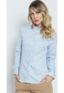 Camisa Com Pences- Azul Claro- Intensintens