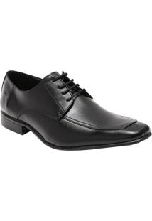 Sapato Social Leblon Em Couro Com Recortes- Pretocns