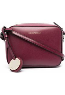 Emporio Armani Logo-Charm Cross Body Bag - Vermelho