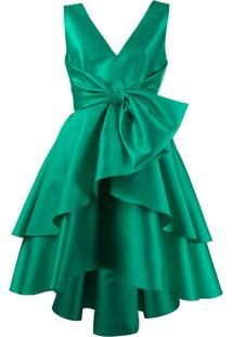 Alberta Ferretti Sleeveless Ruffled Dress - Verde