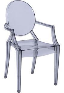 Cadeira De Jantar InvisãVel Com Braã§O- Incolor- 91X5Or Design
