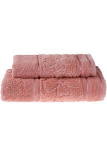Jogo De Toalhas Banho E Rosto Luna Rosa Antigo - 2 Un