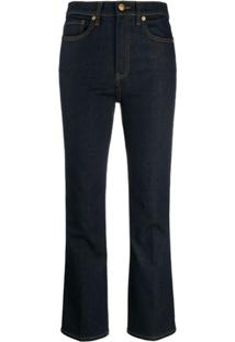 Tory Burch Calça Jeans Cintura Média - Azul