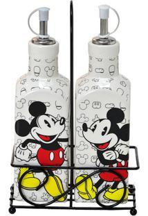Galheteiro Mickeyâ®- Branco & Preto- 2Pã§S- Mabrukmabruk