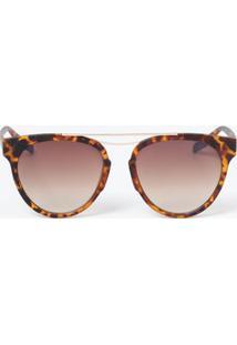 Óculos Feminino De Sol Gateado Espelhado Marisa
