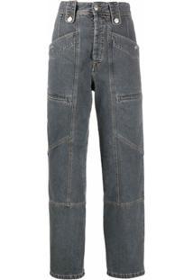 Isabel Marant Étoile Calça Jeans Com Cintura Alta - Cinza