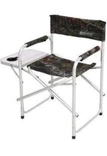 Cadeira Dobrável Diretor Nautika Com Mesa Lateral E Porta Copo - Unissex-Camuflado