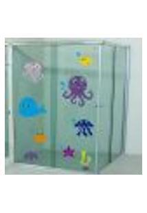 Adesivo Para Box De Banheiro Fundo Do Mar 5 - Pequeno