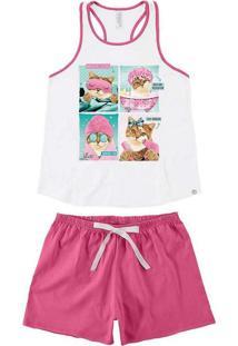 Pijama Malwee 1000073402 00001-Branco