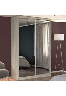 Guarda-Roupa Solteiro 2 Portas Com 2 Espelhos 100% Mdf 771E2 Marfim Areia - Foscarini