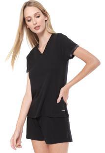 Short-Doll Calvin Klein Underwear Premium Preto