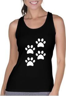 Regata Criativa Urbana Cavada 4 Patas Pets Dog - Feminino-Preto
