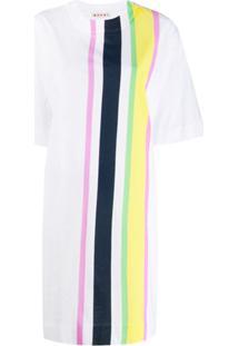 Marni Vestido Listrado - Branco