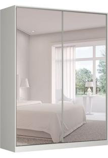 Guarda-Roupa Solteiro Com Espelho Tunas X 2 Pt 3 Gv Branco