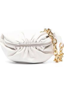 Bottega Veneta Pouch Clutch Bag - Branco