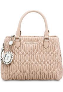 Miu Miu Cloqué Nappa Leather Bag - Neutro