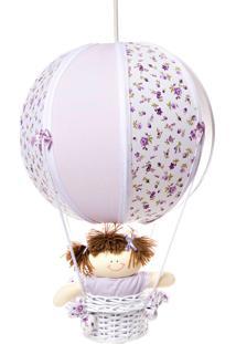 Lustre Balão Bolinha Potinho De Mel Lilás - Kanui