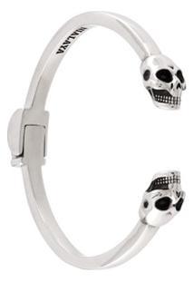 Nialaya Jewelry Bracelete Em Prata De Lei - Cinza