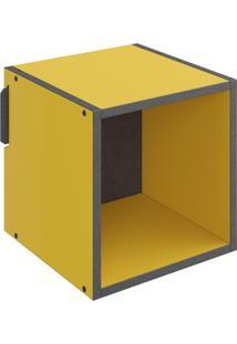 Nicho Quadrado Decorativo Lyam Decor Mov Amarelo
