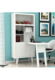 Estante Com Mesa Para Computador Me4125 - Tecno Mobili - Branco