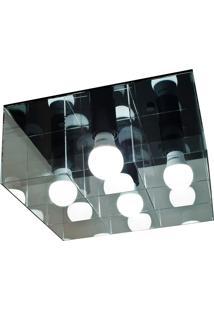 Plafon Versus Quadrado 15W-Taschibra - Transparente / Preto