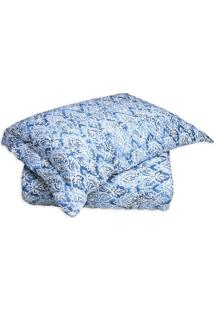 Conjunto De Cobre-Leito Forever King Size- Azul & Brancosultan