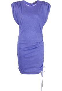 Isabel Marant Vestido Com Ombros Estruturados - Roxo
