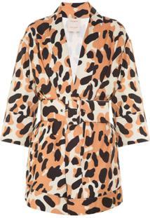 Allmost Vintage Kimono 'Leopard' Em Animal Print