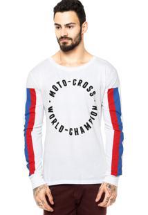 Camiseta Manga Longa West Coast Cross Branca