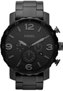 Relógio Fossil Analógico Fjr1401Z Masculino - Masculino-Preto