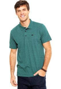 Camisa Polo Quiksilver Black Iii Verde