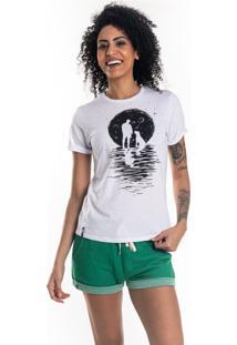 T-Shirt Nogah Moon Dog Branca - Kanui