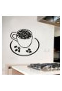 Adesivo De Parede Para Cozinha Modelo Xícara De Café 3 - Médio