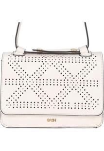 Bolsa Birô Pequena Desenhos Feminina - Feminino-Branco