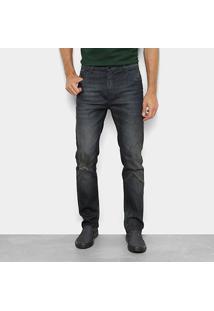 Calça Jeans Slim Ellus Lisa Básica Masculina - Masculino