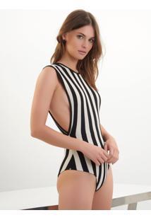 Body Bobô Tuca Tricot Listrado Feminino (Listrado, M)