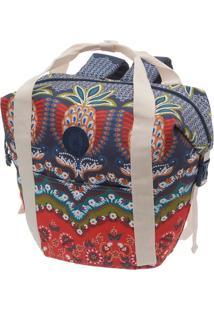 Bolsa Ciganice- Azul Marinho & Branca- 43X53X17Cmfarm