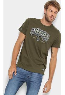 Camiseta Okdok Classic Logo Camo - Masculina - Masculino-Verde Militar