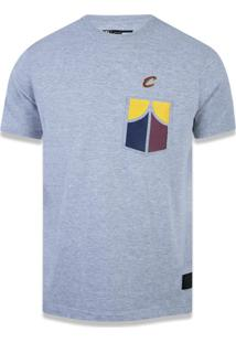 Camiseta New Era Regular Cleveland Cavaliers Mescla Cinza